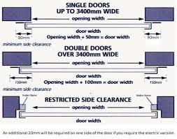 gliderol steel roller door technical layout