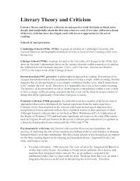 Example Of Literature Essays A Literary Essay The Paragraph Literary Essay Eng D What Is