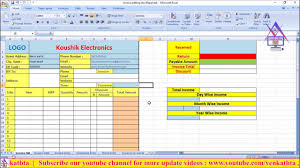 Prepare Invoice How To Create Make Prepare Invoice Billing Software In Excel For Any