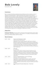 President Coo Resume Samples Visualcv Resume Samples Database