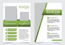 Green Brochure Template Flyer Design Abstract Template For Annual