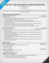 Recruiter Resume Template Delectable Recruiter Resume Sample Techtrontechnologies