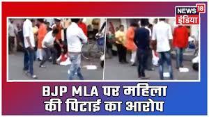 Ahmedabad Bjp Mla Balram Thawani Beats Women And Her Husband Video Goes Viral