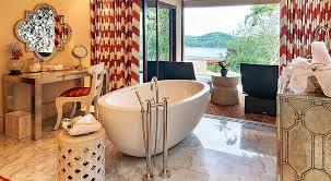 large freestanding spa bathtub