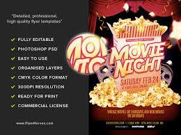 Free Movie Night Flyer Templates Movie Night Flyer Template Flyerheroes