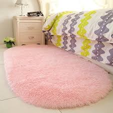 yoh fluffy pink area rugs for bedroom girls rooms kids rooms nursery decor mats 2 6