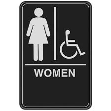 bathroom sign. Beautiful Sign Women With Handicap Accessible Symbol Acrylic Restroom Sign And Bathroom