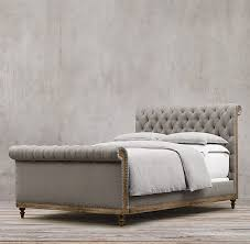 Tufted upholstered sleigh bed Faux Crystal 56 Provident Home Design Diy Faux Tufted Upholstered Headboard