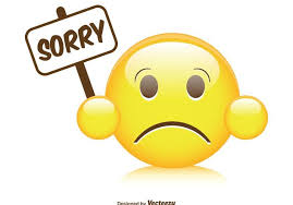 Cute Sorry Smiley Illustration Free Vector Download 40 CannyPic Magnificent Sorry