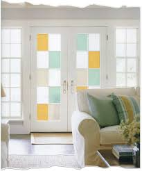 french paned door with stained glass