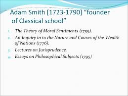 classical school of economy adam