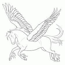 Free Printable Pegasus Coloring Pages For Kids Coloring Home