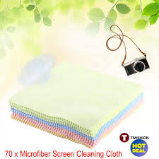 70pcs square microfiber lcd screen cleaning cloth lens glasses dust cleaner