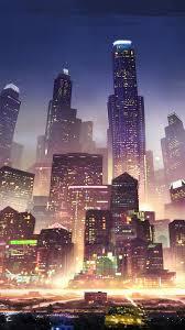 326397 Sci-Fi, City, Night, Skyscraper ...