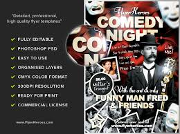 free flayers free comedy flyer template flyerheroes