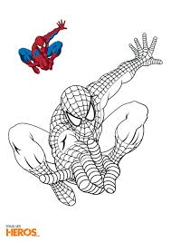 Coloriage Spiderman En Train De Sauter Pinterest