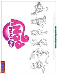 My Little Pony All Ponies Coloring Page H M Coloring Pages