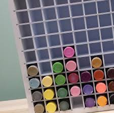 Craft Paint Storage Organizer for Acrylic Paint bottles holds 90