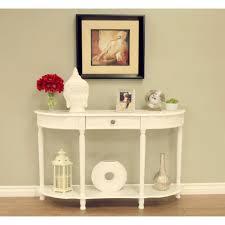 homecraft furniture white storage console table
