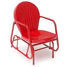 Outdoor metal chair Plastic Metal Glider Chairs Meubles Et Design Metal Glider Patio Garden Furniture Ebay