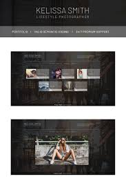 Kelissa Smith Photographer Portfolio Website Template