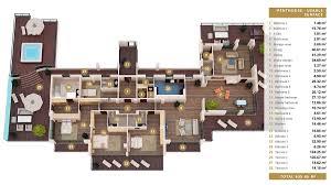 4 Bedroom Luxury Apartment Floor Plans