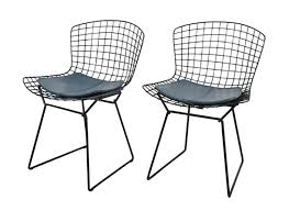 Pair Mid Century Modern Iron Cantilever Patio Chairs By Mid Century
