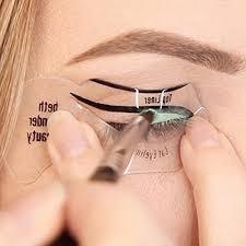 jern cat eyeliner stencil smokey eye makeup stencil reusable eyes makeup tool