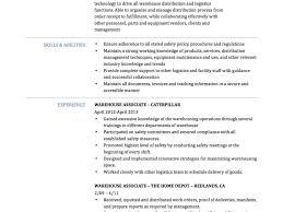 100 Warehouse Job Resume Sample Examples Resumes Warehouse