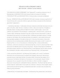 Business Plan Non Disclosure Agreement Template Sample ...