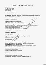 Welding Apprentice Resume Examples Pipefitter Sample Best Images On