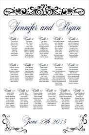 Wedding Reception Seating Chart Template Word Wedding Seating Chart Template Seating Chart Wedding