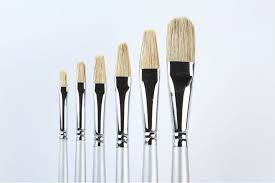 oil paint brushes. oil paint brushes sets 6pcs/set hog hair brush handmade painting natural bristle wood handle