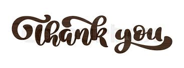 Word Thank You Thank You Hand Drawn Text Phrase Stock Vector Colourbox