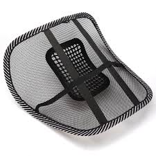 Chair Mesh Seat Back Support Lumbar Cushion Car fice Sitting