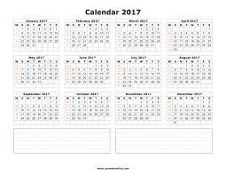 2017 monthly calendar printable templates