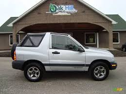 2000 Silver Metallic Chevrolet Tracker 4WD Soft Top #12861140 ...