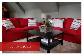 Living Room With Red Sofa Red Couch Room I Kind Of Like This Home Is Where The Heart