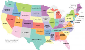 this map shows the most popular television show set in each state