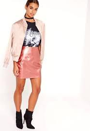 petite leather skirt faux metallic mini pink skirts