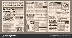 Old Fashioned Newspaper Article Template Vintage Newspaper Template Retro Newspapers Page Old News