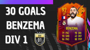 FIFA 21 BENZEMA 92 HEADLINER | 30 GOALS | FIFA 21 Ultimate Team - YouTube
