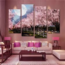 Large Living Room Paintings Online Buy Wholesale Purple Tree Large Picture From China Purple