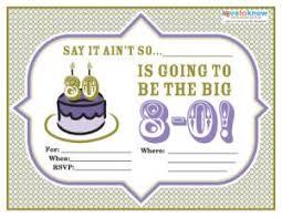 birthday invitations samples 80th birthday party invitation wording lovetoknow