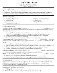 Sample Warehouse Management Resume