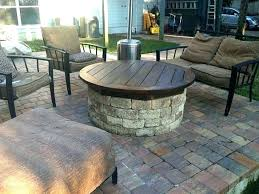 gas fire pit on wood deck medium size of pad composite safe for trex pits de