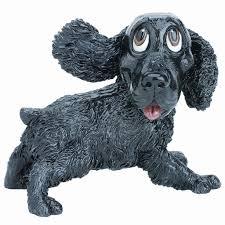 Black Cocker Spaniel Dog Figurine 5