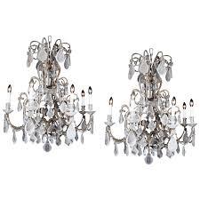 1910 italian style beads rock crystal chandelier