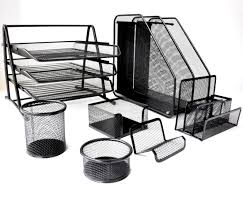 Desk Organizer Metal Mesh Desk Organizer Set 7 Pieces Papecero