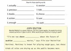 Spelling Test Template 5 Words Best Of 3Rd Grade Spelling Worksheets ...